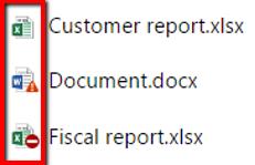 Visuele weergave van documenten die binnen een beleidsregel vallen